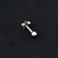 Piercing Tragus Steel Surgical 316L Star 1.2mm x 6mm