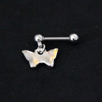 Piercing Tragus Surgical Steel 316L Butterfly Pendulum 1,2mm x 7mm