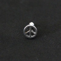 Piercing Tragus Steel Surgical 316L Peace 1,2mm x 6mm
