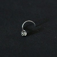 Piercing Nose Logo 69 Nostril Surgical Steel 316L 0,6mm x 7mm