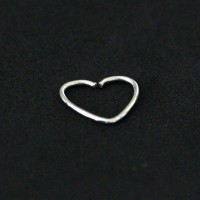 Piercing Steel Surgical 316L Cartilage Helix Tragus Daith Heart Earring 0.5mm x 9mm