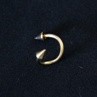 Piercing Twister Spike Yellow Gold Plated 24k 1,2mm x 8mm