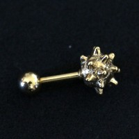 Piercing Tragus Clava Veneer Gold Yellow 24k 1,2mm x 7mm