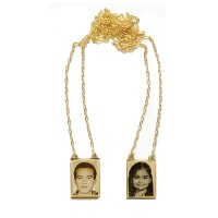 Scapular Gold 18k 0750 with photo engraved / Photoengraving 60cm - 10.3mm x 14.0mm