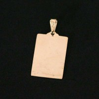 Semi pendant jewelry Gold Plated Psalm 23