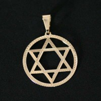 Semi pendant jewelry Gold Plated Star of David