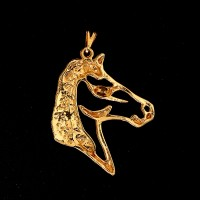 Horse Gold Plated Semi Jewelry Pendant