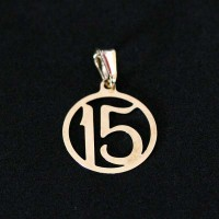 Semi pendant jewelry Gold Plated 15 Years