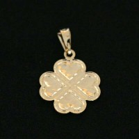 Semi pendant jewelry Gold Plated Lucky Clover