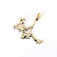 Semi Jewelry Pendant Gold Plated Swing Girl
