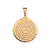 Gold Plated Semi Jewelry Pendant Ave Maria Prayer