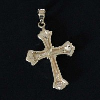 Semi Pendant Jewelry Gold Plated Cross Crafted
