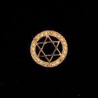 Gold Plated Semi-Jewelry Star of David Pendant