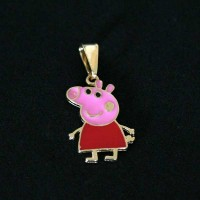 Semi pendant jewelry Gold Plated Peppa Pig