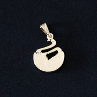 Pendant Semi Jewelry Gold Plated Biology