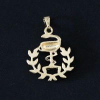 Pendant Semi Jewelry Gold Leaf Pharmacy