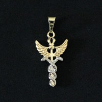 Pendant Semi Jewelry Gold Leaf Medicine