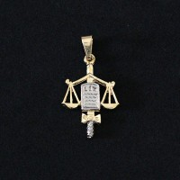 Pendant Semi Jewelry Gold Plated Right