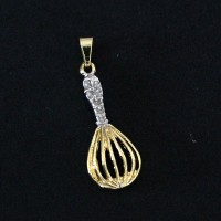 Pendant Semi Jewelry Gold Plated Gastronomy