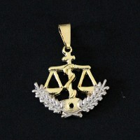 Pendant Semi Jewelry Gold Plated Nutrition