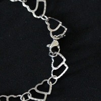 Stainless Steel Two Hearts Bracelet