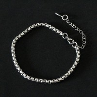 Stainless Steel Portuguese Square Bracelet 18cm / 4mm