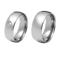 Alliance anatomical 8mm stainless steel flat / Alliance anatomical 8mm stainless steel and stone zirconia 3mm