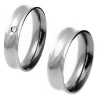 Alliance stainless steel concave 6mm flat comfort / Alliance stainless steel and 6mm comfort concave stone zirconia 2mm