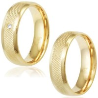 Crust Alliance Gold Plate 6mm knurled / Crust Alliance Gold Plate 6mm knurled with Zirconia Stone