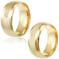 Crust Alliance Gold Plate 8mm knurled / Crust Alliance Gold Plate 8mm knurled with Zirconia Stone