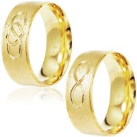 Gold Plated Gold Plated 7mm Infinite / Gold Plated Gold Plated 7mm Infinity & Heart