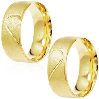 Gold Coated 7mm Half Right Heart / Alliance Gold Coated 7mm Half Left Heart