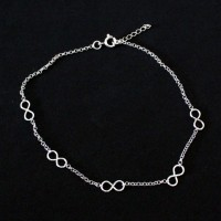 Silver Anklet 925 Infinity 25cm