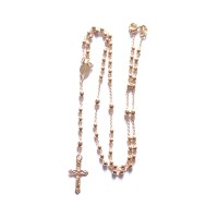 Choker Necklace Rosary Semi Jewelry Gold Plated 45cm