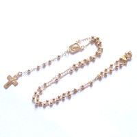 Choker Necklace Rosary Semi Jewel Gold Plated 45cm