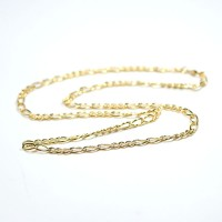 Chain Gold Plated Grumet 3x3 60cm / 5.0mm