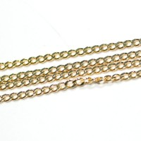 Chain Gold Plated Grumet 50cm / 3.0mm
