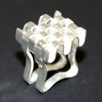 Ring Silver 925 Square Adjustable