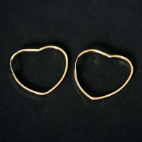 Earring 18k Gold Heart 0750