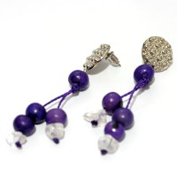 Earring Acai Seed and Crystal