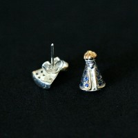 925 Silver Earring Our Lady Aparecida