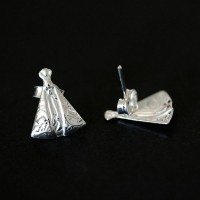 925 Silver Earring Our Lady of Aparecida