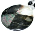 Necklace Abalone, Saboneteira Seed, Mother of Pearl and Crystal