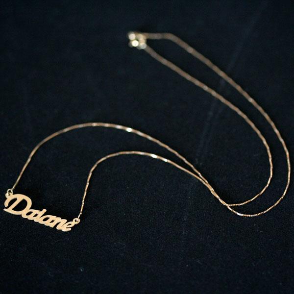 828f61d0ba90c Gargantilha de Ouro Amarelo 18k Veneziana 45cm com Pingente Nome  Personalizado ...