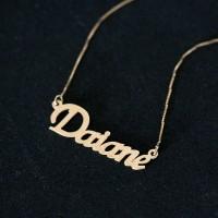 ... Gargantilha de Ouro Amarelo 18k Veneziana 45cm com Pingente Nome  Personalizado 41745317f5