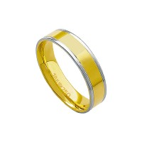 Anatómico Alliance Gold y 18k de oro blanco 750 Ancho 5.00mm Altura 1.50mm