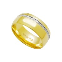 Anatómico Alliance Gold y 18k de oro blanco 750 Ancho 7.80mm Altura 1.60mm