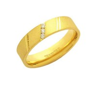 Alliance Anatomic 18k Gold 750 with 3 Brilliant 2.25 Points Width 5.00mm Height 1.50mm