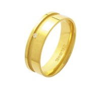 Alliance Anatomic 18k Gold 750 with a brilliant 2.25 Points Width 6.00mm Height 1.30mm
