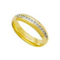 Alliance Anatomic 18k Gold 750 with 15 brilliant 2.25 Points Width 5.00mm Height 1.80mm